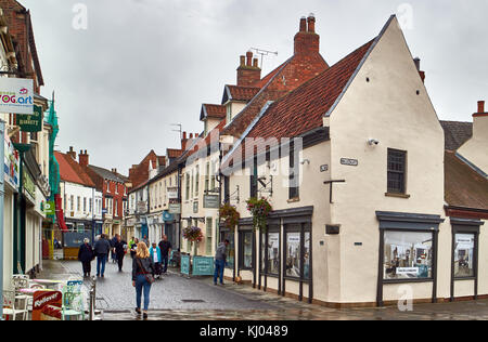 England, East Riding of Yorkshire, The High Street in Beverley village - Stock Photo