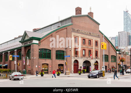 Toronto, Canada - Oct 13, 2017: Historic St Lawrence Market in the city of Toronto. Province of Ontario, Canada - Stock Photo