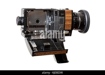 vintage super 8 home movie film projector isolated with