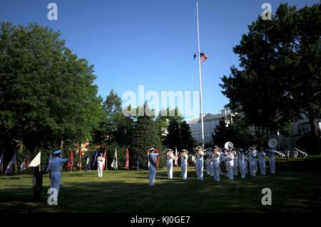 Colors at Washington Navy Yard (Flag Day) (5832842345) - Stock Photo