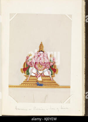 Indian - Leaf from Bound Collection of 20 Miniatures Depicting Village Life - Walters 35176K - Stock Photo