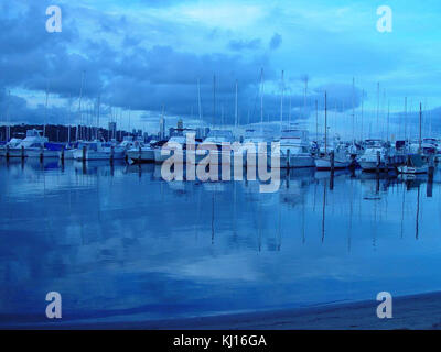 Boats and reflections royal perth yacht club - Stock Photo