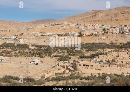 Wadi Musa, small town near Petra, Jordan - Stock Photo