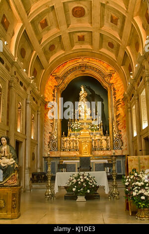 Alter, or chapel,  with Christ carrying the cross in the church of Nossa Senhora da Conceicao Velha - Our Lady of - Stock Photo