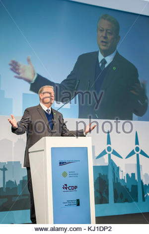 Environmentalist and former Vice President Al Gore (USA) gives a speech at the 2017 United Nations Climate Change - Stock Photo