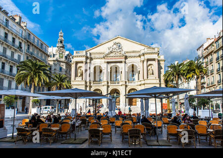 Europe, France, Var, Toulon. Victor Hugo place. - Stock Photo