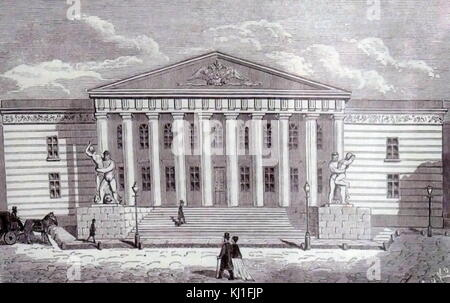 The Mountain Institute. Saint-Petersburg. 1870. - Stock Photo