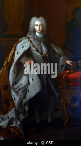 Portrait of Tsar Peter II of Russia c1728. Peter II Alekseyevich (1715 – 1730) reigned as Emperor of Russia from - Stock Photo