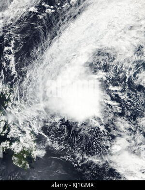 Tropical Depression Bising near peak strength east of Philippines on February 5, 2017. Early on February 12, PAGASA - Stock Photo