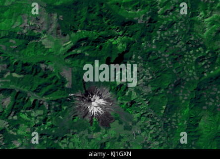 Site of the Mount St Helens Volcanic eruption, as it appeared in 1973. On May 18, 1980, a major volcanic eruption - Stock Photo