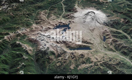 Site of the Mount St Helens Volcanic eruption, as it appeared in 2015. On May 18, 1980, a major volcanic eruption - Stock Photo