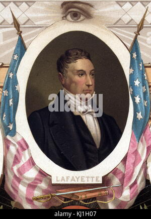 General Gilbert du Motier, marquis de Lafayette (1757–1834), French soldier during the American Revolutionary War. - Stock Photo