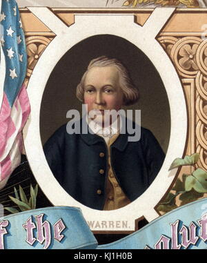Dr. Joseph Warren (June 11, 1741 – June 17, 1775) was an American physician who played a leading role in American - Stock Photo