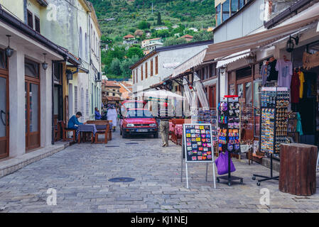 Street in Stari Bar (Old Bar) - small town near Bar city, part of Bar Municipality in southern Montenegro - Stock Photo