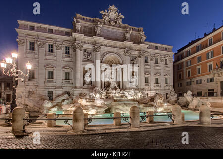 Tevi Fountain Rome - Fontana di Trevi, Rome - Stock Photo
