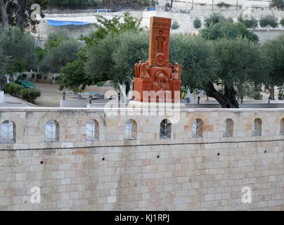 Shrine next to the Church of the Sepulchre of Saint Mary, also Tomb of the Virgin Mary, in the Kidron Valley; Mount - Stock Photo