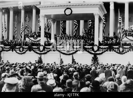 Oath of Office administered to John Calvin Coolidge as US president January 1925. Coolidge (1872 –1933) was the - Stock Photo