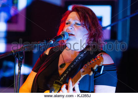 Boca Raton, FL, USA. 20th Nov, 2017. Rachelle Coba performs at The Funky Biscuit in Boca Raton, Florida, November - Stock Photo