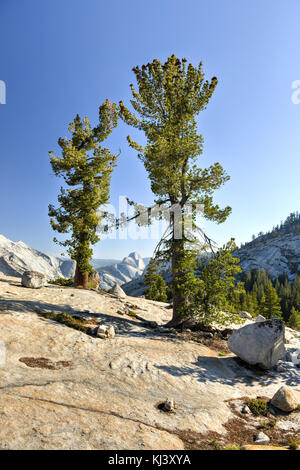 Yosemite National Park: Olmsted Point -The view from Olmsted Point at Yosemite national Park including Half Dome - Stock Photo
