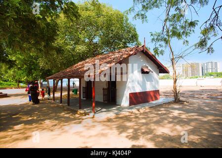 Cottage, Sabarmati Ashram, One of the residences of Mahatma Gandhi, Ahmedabad,Gujarat, India - Stock Photo