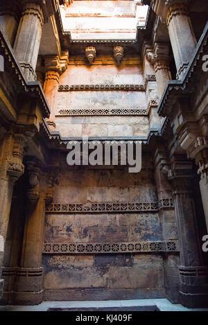 Partial view of Dada Hari Ni Vav, Asarwa, Ahmedabad, Gujarat, India - Stock Photo