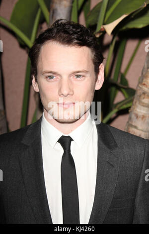 BEVERLY HILLS, CA - DECEMBER 01:  Anton Yelchin attends the Children's Defense Fund's 21st annual Beat The Odds - Stock Photo
