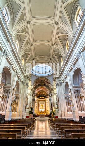Interior of Palermo Cathedral, a UNESCO world heritage site in Italy - Stock Photo