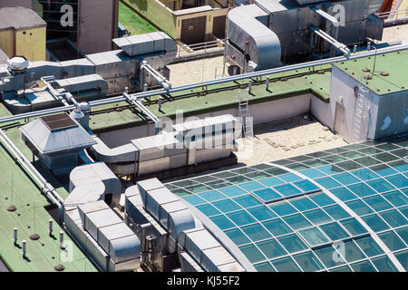 Abstract view of roof modern building. - Stock Photo