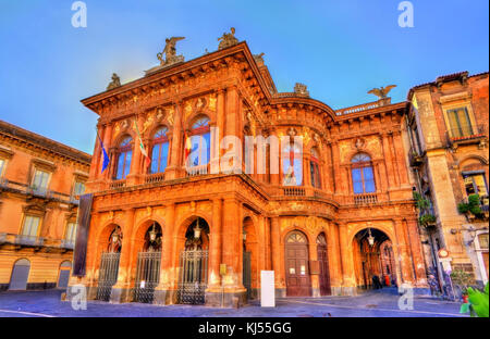 Teatro Massimo Bellini, an opera house in Catania, Italy - Stock Photo