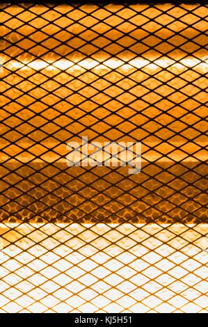 Electrical stove of radiators with metallic grids - Stock Photo
