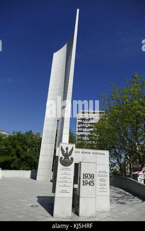 Monument of Polish Underground State and Home Army in Warsaw. (Polish resistance to German occupation during World - Stock Photo