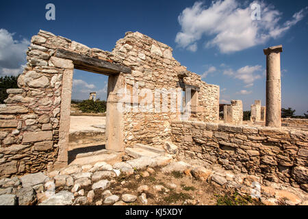 The Sanctuary of Apollo Hylates, Cyprus. The sanctuary is located about 2,5 kilometres west of the ancient town - Stock Photo