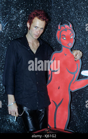 NEW YORK CITY, NY - JUNE 19: Scott Weiland of Stone Temple Pilots poses for a portrait on June19, 1996 in New York - Stock Photo