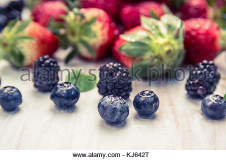 Fresh garden berries - Stock Photo