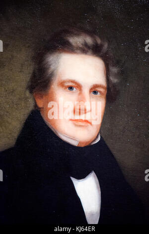 Oil painting of President Millard Fillmore, 13th president, by unidentified artist, 1843 - Stock Photo