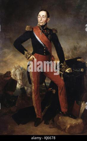 Rouillard Jean Sébastien  -  Portrait of Emmanuel marquis de Grouchy  1835 - Stock Photo