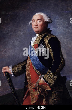Louise-Elizabeth Vigée Le Brun  -  Portrait of Philippe-Henri, marquis de Ségur  , marshal of France, minister - Stock Photo