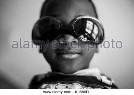 Little boy with sunglasses - Stock Photo