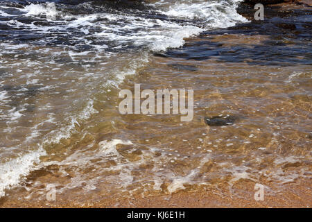 Close-up of shore, Umhlanga Rocks, KwaZulu Natal, South Africa. - Stock Photo