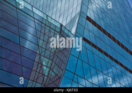 Building glass . Modern office building detail, glass surface - Stock Photo