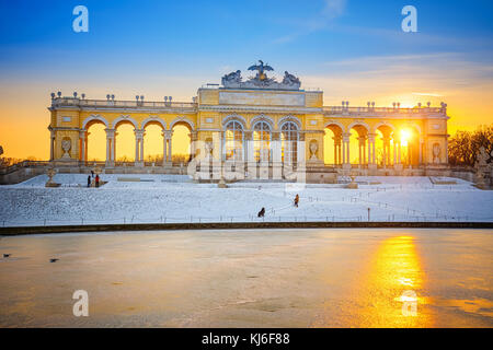 Gloriette in Schonbrunn Palace at winter, Vienna, Austria - Stock Photo