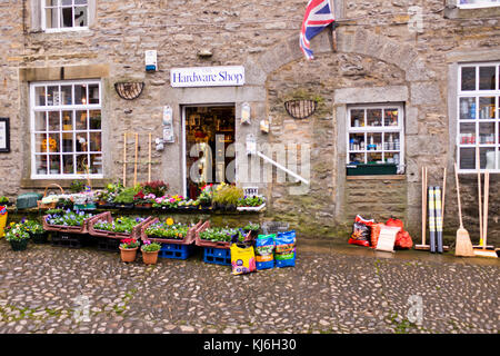 Grassington,Village Centre,Shops,Inns,Hotels,B & B's Accommodation,Pubs,Hotels,Village Shops,North Yorkshire Dales,UK,GB - Stock Photo