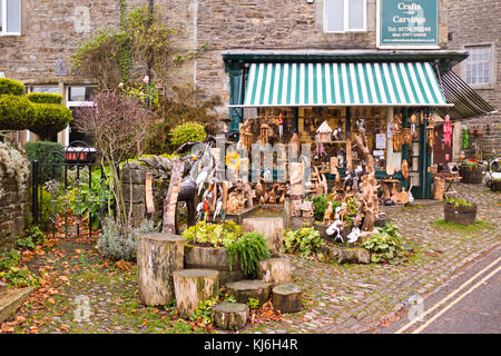 Grassington,Village Centre,Shops,Inns,Hotels,B & B's Accommodation,Pubs,Hotels,Village Shops,North Yorkshire Dales,UK,GB - Stock Photo