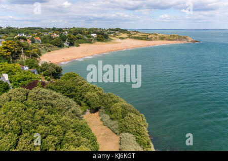 Saint-Nazaire (north-western France): beach of Courance along the coasts of Saint-Nazaire and beginning of the Loire - Stock Photo