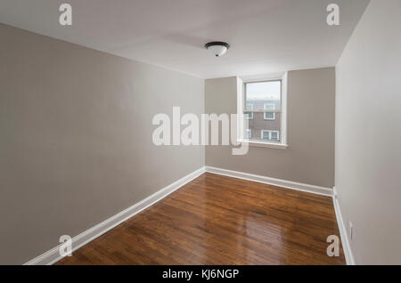 Empty Vacant Small Bedroom In Residential Home - Stock Photo