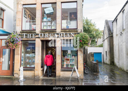 The Orcadian Bookshop, Kirkwall, Orkney Mainland, Scotland, UK - Stock Photo