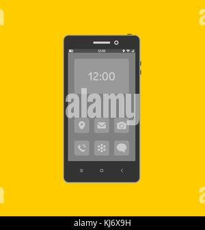 Smartphone with necessary application icons on the screen. - Stock Photo