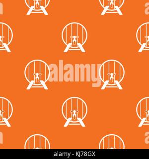 Beer barrel in pub pattern seamless - Stock Photo