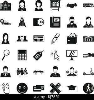 Initiation icons set, simple style - Stock Photo