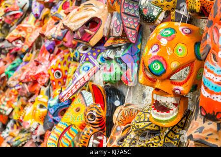 Typical masks in a souvenir shop | Antigua | Guatemala